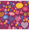 Seamless background - happy birthday heart gift vector