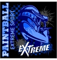 Paintball team - extreme sport vector