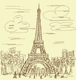 Vintage eifel tower vector