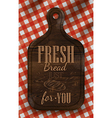Bread cutting board red vector