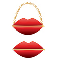 Zipper mouth purse vector