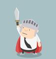 Fat businessman sword vector