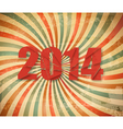 2014 happy new year retro background vector