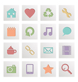 Square media icons vector