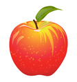 Juicy red apple vector