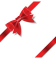 Red gift ribbon vector