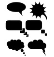Speech bubbles dreams black and white vector