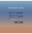 Member login vector