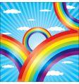 Colorful rainbow vector