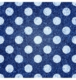 Jeans retro seamless polka-dot background vector