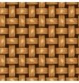 Wicker seamless background wooden basket textured vector