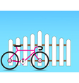 Fence with a bicycle vector