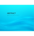 Abstract blue background with smooth lines vector