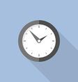 Clock flat icon world time concept internet vector