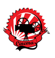 Retro cinema label vector