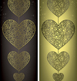 I love you filigree banners in format vector