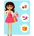 Girl at the mall vector