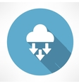 Precipitation icon vector