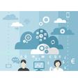 Business cloud vector