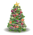 Decorated new year tree vector