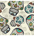 Sugar skulls background vector