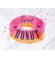 Donut watercolor poster vector