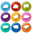 Buttons with empty callout templates vector