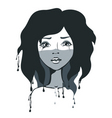 Artistic girl vector