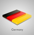 European flags set - germany vector