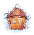 Winter cartoon home vector
