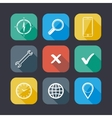 Set of application web icons flat design with long vector