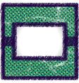 Raster scribbled frame vector