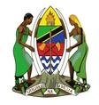 Coat of arms of tanzania vector