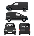 Black commercial vehicle mockup vector