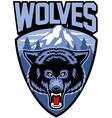 Wolves mascot vector