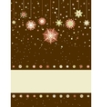 Christmas greeting card with snowflakes eps 8 vector