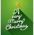 A very merry christmas tree composition vector