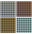 Hounds tooth seamless fabric pattern vector