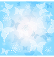 Spring gentle blue pattern vector