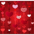 Red love valentins day seamless pattern vector