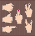 Fingers form signs vector