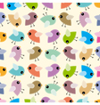 Funny birds background vector