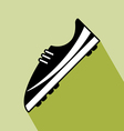Shoes football icon vector