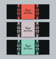 Vintage set labels vector