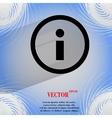 Info flat modern web design on a flat geometric vector
