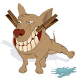 Very cheerful doggie vector