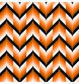 Seamless pattern with orange zigzag elements vector