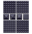 Set of 4 seamless black mosaic backgrounds vector