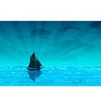 Sailing yacht on the ocean vector