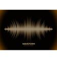 Sepia sound waveform vector